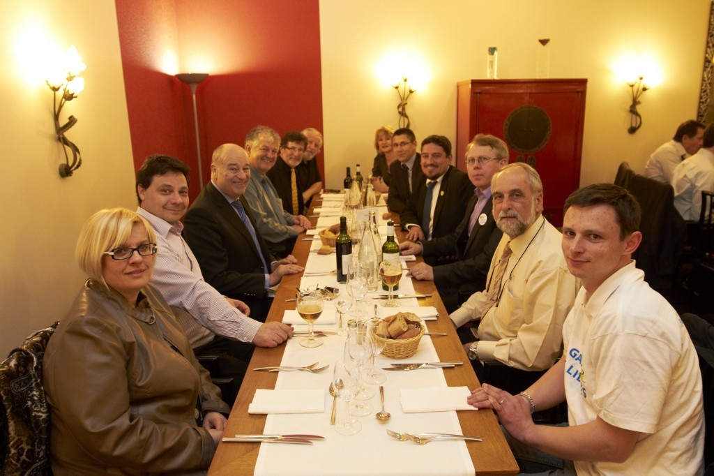 Jean-Michel Baylet, avec les militants de la fédération