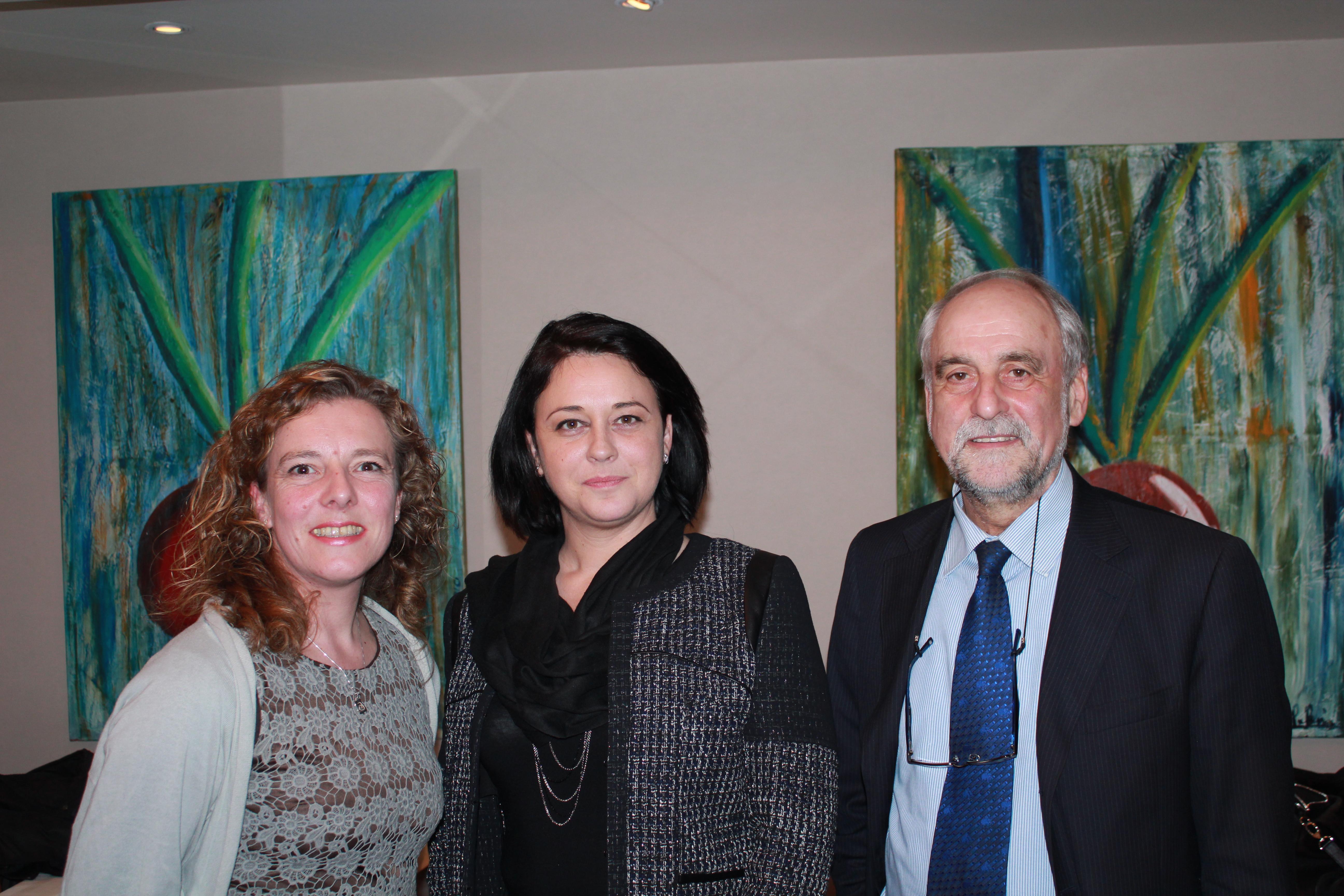 Sylvia Pinel aux côté de André Lefeuvre et Béatrice Dugueperoux (Canton de Combourg)