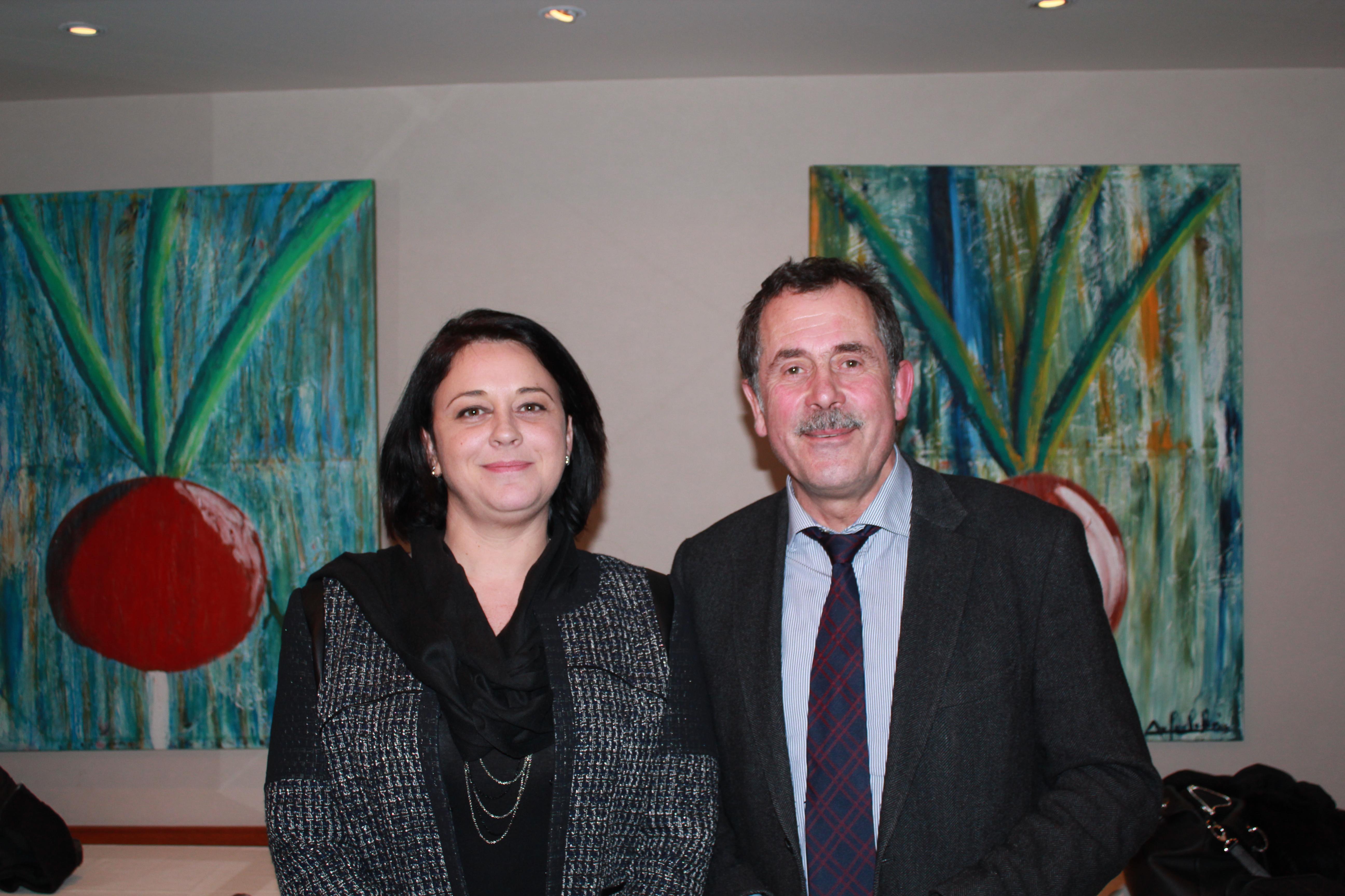 Sylvia Pinel aux côté de Pierre Yves Reboux